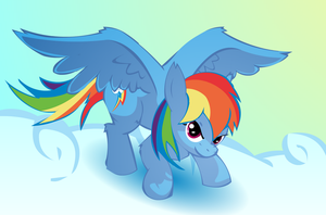 Rainbow Dash back in Flight by Big-Mac-a-Brony