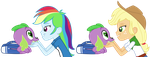 Spike gets ALL the Equestria Girls - part 2 by titanium-pony