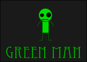 Green Man Logo by Makkeroe