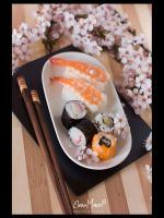 Flowers, Sushi by ComeAria