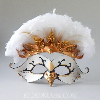 Swan Princess Mask and Tiara by Beadmask