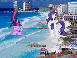 Me Twi And Rarity At Mexico Beach by TroyJr24