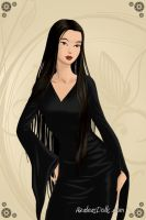 Morticia Addams in dsieny by scarymovie13
