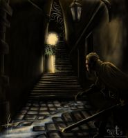 In the dark alley by Asthenot