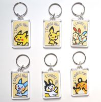 Electric Rodent Pokemon Keychains by pookat