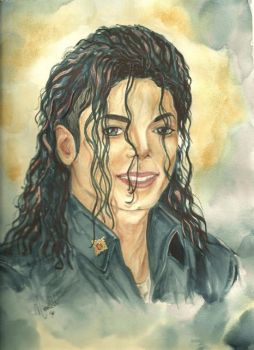 A Michael Jackson Painting by mjdrawings