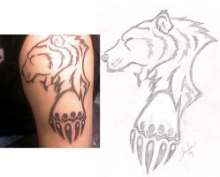 Tribal Bear Tat by Songficcer