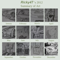 Art Summary of 2012 by Ricky47