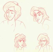 Some Aladdin's faces by Sedjin