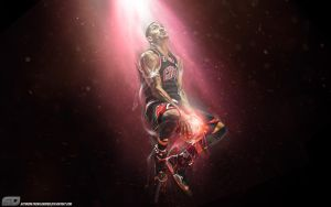 Derrick Rose by Sanoinoi