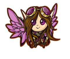Steampunk Fairy Chibi Finished by Roguelucifer