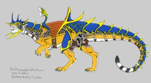 Pantherapod in armor by Fantasy-Visions