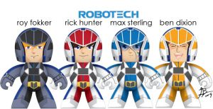 Robotech Mighty Muggs by Reysdf