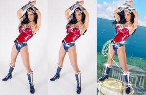 Wonder woman cosplay photoshop progress WIP by calgarycosplay