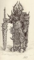 Chaos Lord  - Ballpoint Pen by 128Bray