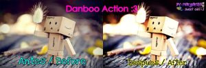 Danboo Action Photoscape by MagiieGiin
