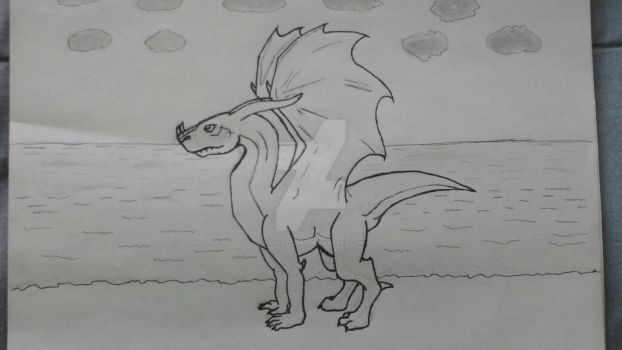 Drawing dragon practice by HoPeYveltal