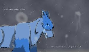 I Walk a Lonely Road by frostedForest