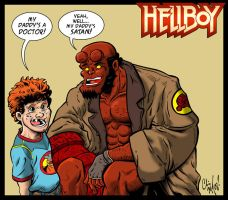 Hellboy Color by ChrisMcJunkin