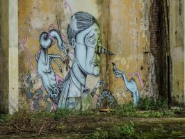 street art in an abandoned industry by AlePinci