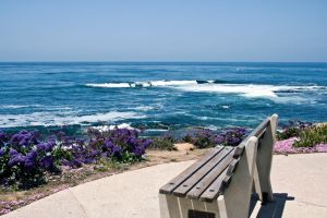Bench and water by Sinned-angel-stock