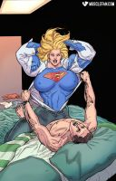 Sexy Supergirl by muscle-fan-comics