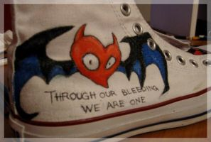 Heartbat Converse by ssynesthesia