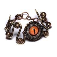 Steamgoth Beholder Bracelet by CatherinetteRings