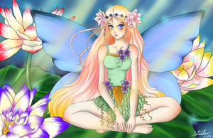 Lily Fairy by Vide-Ilustration