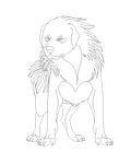 Free Tibetan dog lineart MS Paint by Roneri