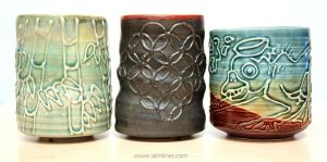 Bamboo forest, matte black asanoha, wide kappa cup by skimlines