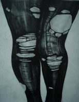 Ripped Tights Graphite by xXcourtneyXx808