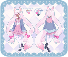 pink fox kemonomimi (auction)*closed* by oko-san