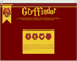 Gryffindor | simple custom graphic by BluAjisai