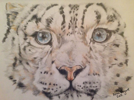 Snow-Leopard Colored-Pencil by WatchWolf34