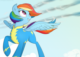 The rainbow wonderbolt by SarmaTeppou