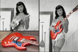 Making of 'Bettie Page Jedson SG' by vincegotera