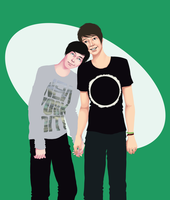 Phil + Dan by Keitaboy