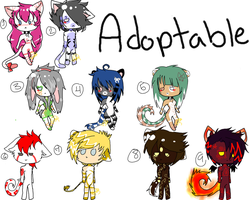 -: Crazy Mini Adoptable  3 LEFT -OPEN- :- by Mako-chii