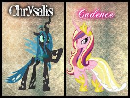 Queen Chrysalis and Princess Cadence by Angelicsweetheart