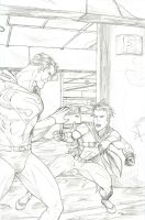 Tim Drake vs Superman by Shlickdoo