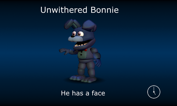 Unwithered Bonnie *fnaf world edit* by GingerChickens