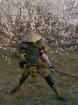 post apocalyptic Samurai by Owen505Gray