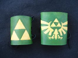 Triforce Leather Cuffs by RebelATS