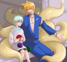 AU!Kuroko_The Nine tails Kise by LuCiFelLo