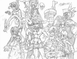 Skullgirls - DLC Girls Come Together by Hotfeet444