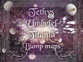 Tethys, Umbriel and Titania Bump maps. by Kexitt