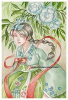 Hanbok -watercolors- by auroreblackcat