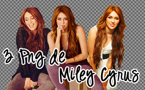 Pack 3 PNG Miley Cyrus by SandHansen