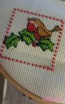 Festive Robin - Cross Stitch by laaputa